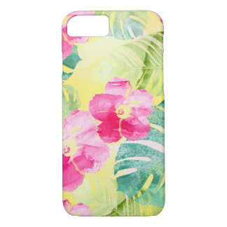 Tropical Banana Leaves and Hibiscus Flowers iPhone 8/7 Case