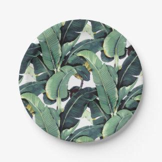 "Tropical Banana Leaves Palm Tree 7"" Paper Plates"