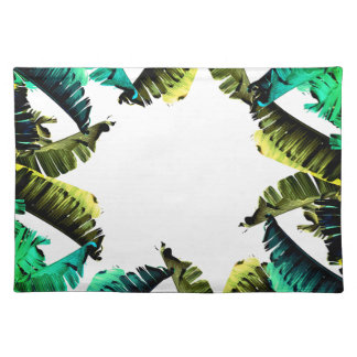 Tropical Banana Leaves Placemat