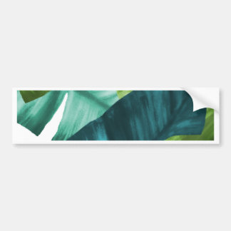 Tropical Banana Leaves Unique Pattern Bumper Sticker
