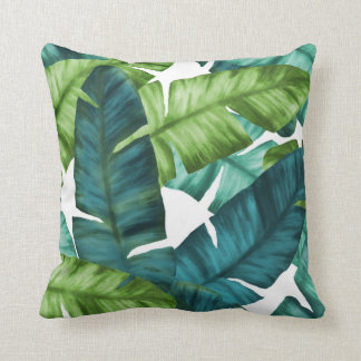 Tropical Banana Leaves Unique Pattern Cushion