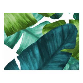 Tropical Banana Leaves Unique Pattern Postcard