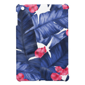 Tropical Banana Leaves With Flower Pattern iPad Mini Cover