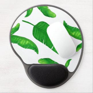 Tropical Banana Palm Leaf Gel Mousepad Watercolor