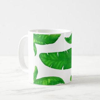 Tropical Banana Palm Leaves 11 oz Classic Mug