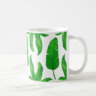 Tropical Banana Palm Leaves Classic Mug