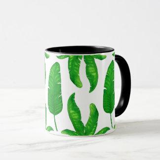 Tropical Banana Palm Leaves Mug