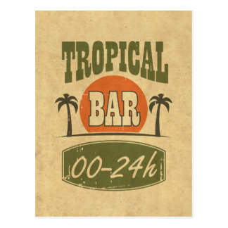 Tropical Bar Postcard