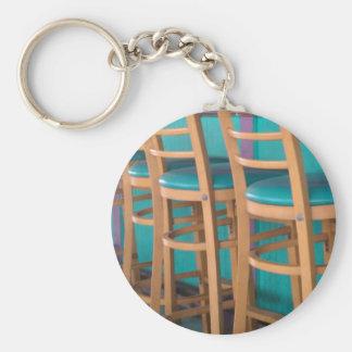 tropical bar stool basic round button key ring