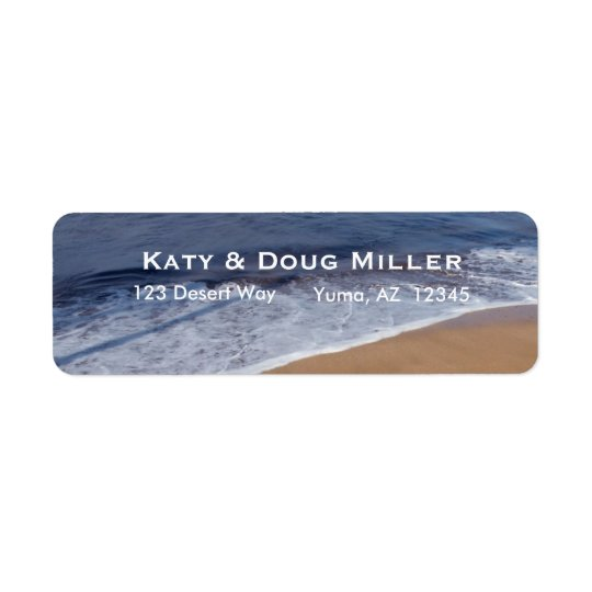 Tropical Beach address labels