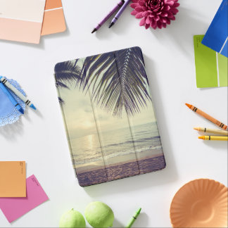 Tropical Beach and Palm Leaves iPad Air Case