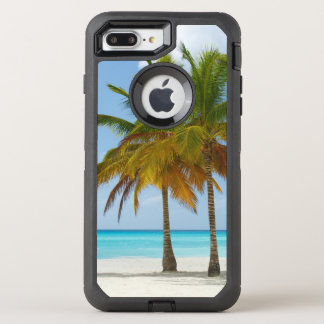 Tropical Beach and Palm Trees OtterBox Defender iPhone 8 Plus/7 Plus Case