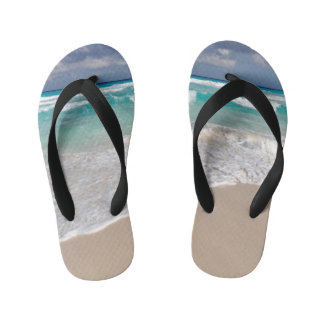 Tropical Beach and Sandy Beach Kid's Thongs