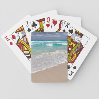 Tropical Beach and Sandy Beach Playing Cards