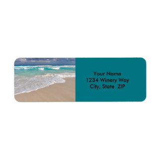 Tropical Beach and Sandy Beach Return Address Label