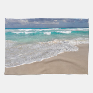 Tropical Beach and Sandy Beach Tea Towel