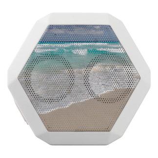 Tropical Beach and Sandy Beach White Bluetooth Speaker