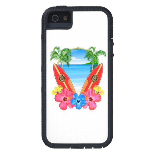 Tropical Beach And Surfboards iPhone 5 Covers