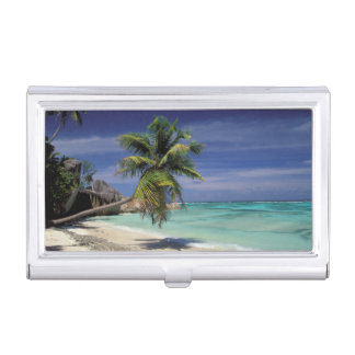 Tropical Beach, Anse Sourse D'Argent, La Digue Business Card Holder