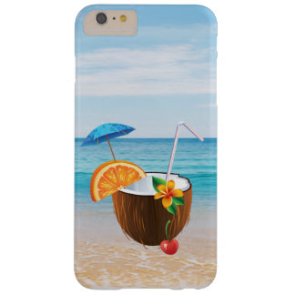 Tropical Beach,Blue Sky,Ocean Sand,Coconut Coctail Barely There iPhone 6 Plus Case
