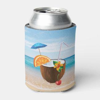 Tropical Beach,Blue Sky,Ocean Sand,Coconut Coctail Can Cooler