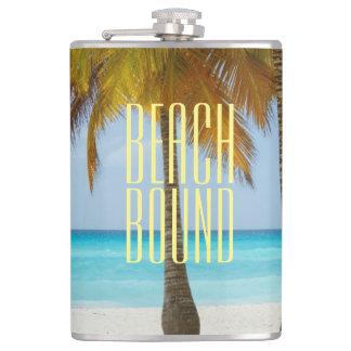 Tropical Beach Bound Hip Flask