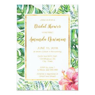 Tropical Beach Bridal Shower Invitation