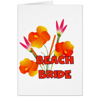 Tropical Beach Bride T-shirts and Gifts Card