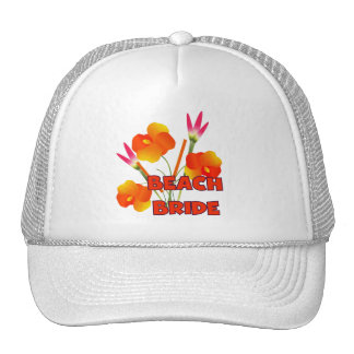 Tropical Beach Bride T-shirts and Gifts Mesh Hats