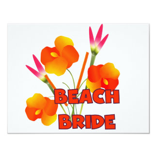 Tropical Beach Bride T-shirts and Gifts Invitation