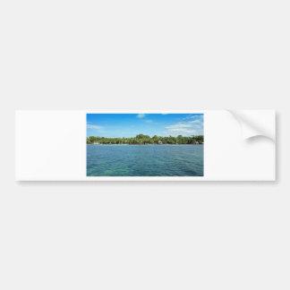 tropical beach bumper sticker