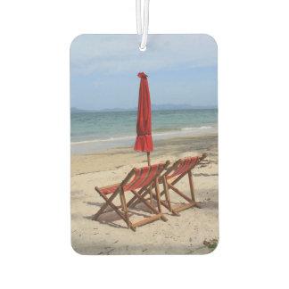Tropical beach car air freshener