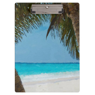 Tropical Beach Clipboard