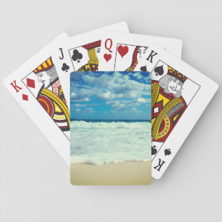 Tropical Beach Close-Up Poker Deck