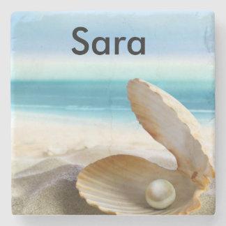 Tropical Beach Coaster Customized Stone Coaster