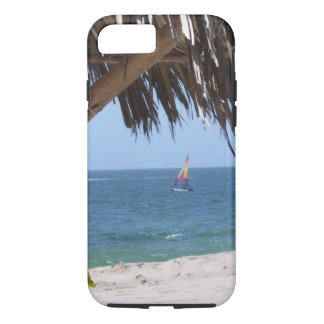 Tropical Beach Colorful Sailboat iPhone 8/7 Case