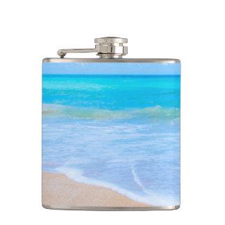 Tropical Beach Days. Island Paradise Getaway. Hip Flask
