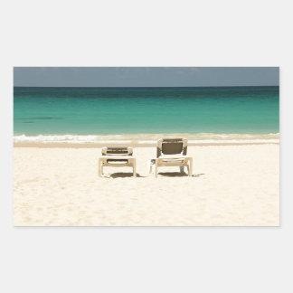 Tropical Beach Dominican Republic Rectangular Sticker
