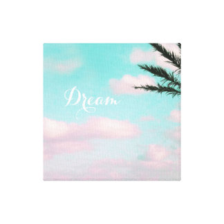 Tropical Beach, Dream, Ocean View, Palm, Beautiful Canvas Print