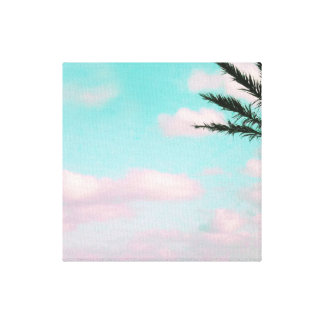 Tropical Beach, Dreamy Ocean View, Palm Canvas Print