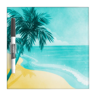 Tropical Beach Dry Erase Board