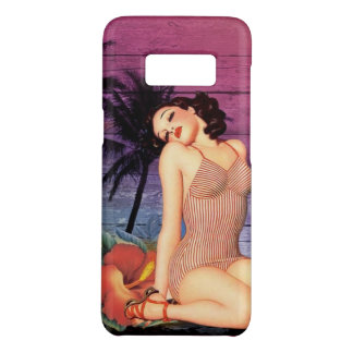 tropical beach Hawaiian flower pin up girl Case-Mate Samsung Galaxy S8 Case