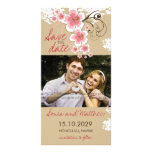 Tropical Beach Hibiscus Pink Save The Date Card Photo Greeting Card