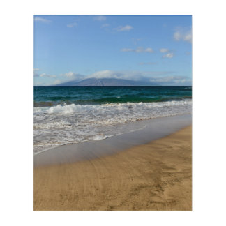 Tropical Beach in Maui Hawaii Acrylic Wall Art