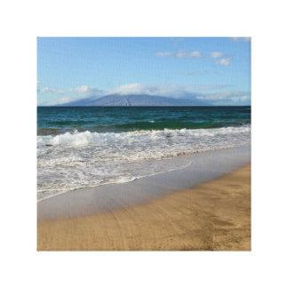 Tropical Beach in Maui Hawaii Canvas Print