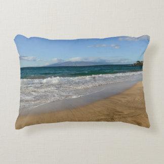 Tropical Beach in Maui Hawaii Decorative Cushion