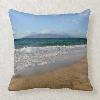 Tropical Beach in Maui Hawaii in Maui Hawaii Cushion