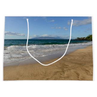 Tropical Beach in Maui Hawaii in Maui Hawaii Large Gift Bag
