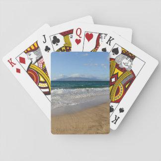 Tropical Beach in Maui Hawaii in Maui Hawaii Playing Cards