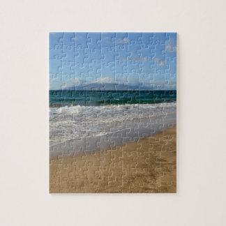 Tropical Beach in Maui Hawaii Jigsaw Puzzle